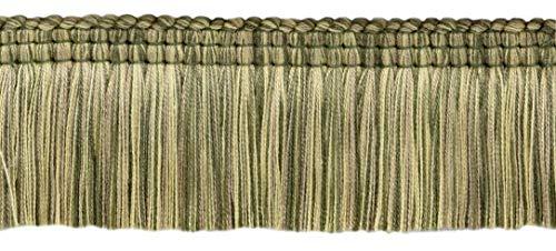 DecoPro 16,5 Meter Paket Empress Collection Lush 51 mm Bürstenborte Loden Green, Harvest Gold, Dark Sand Stil#: 0200EMPB - Farbe: Lichen - W126 -