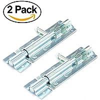 2PACK Heavy Duty Tower Bolt, Slide, Tür Bolt Lock, ideal für Garten, Gate & Schuppen Türen.