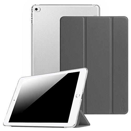 Fintie Hülle für iPad Air 2 - Ultradünne Superleicht Schutzhülle mit transparenter Rückseite Abdeckung Smart Case mit Auto Schlaf/Wach und Standfunktion, Himmelgrau (64 2 Cellular Air Ipad)