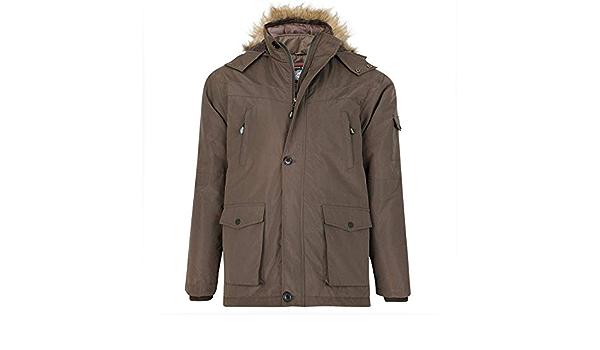 97 KAM Mens Big Size Fur Hooded Parka Jacket