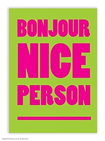 Funny Humorous 'Bonjour Nice Person' Postcard