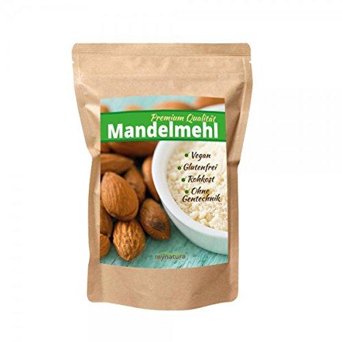 Mynatura 100% weißes Mandelmehl gemahlen( Low carb, glutenfrei, Feines, Ballaststoffen,veganen und Shakes-)