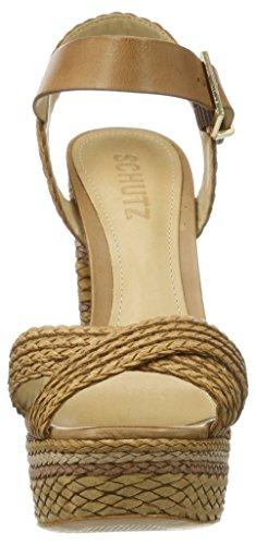 Schutz S2-01030030, Scarpe con Cinturino Donna Braun (Desert)