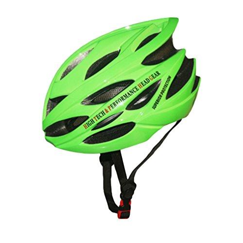 Yuncai Professional Extreme Draussen Sports Leicht Poröse Belüftung Fahrradhelm Für Erwachsene Grün 57-62CM