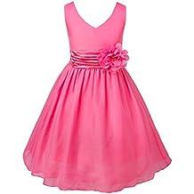 iEFiEL Vestido Elegante de Princesa sin Mangas para Niña Vestido Infantil