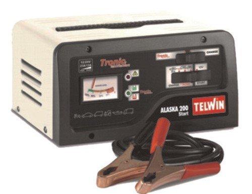 Telwin Elements ALASKA 200 START Autobatterie Ladegerät und Startgerät für 12V/24V Batterien, Ladestrom bis zu 23 A, Startstrom 100-150 A, Kapazität bis zu 300 Ah