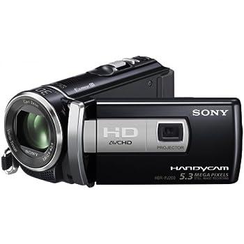 Sony HDRPJ200 Caméscopes à mémoire Flash avec projecteur intégré Port SD/Memory Stick Full HD 5,3 Mpix Zoom optique 25x Noir