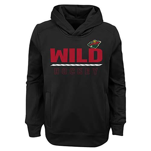 L Minnesota Wild Youth Boys Lace'em Performance Hoodie, Black, Youth X-Large(18) ()