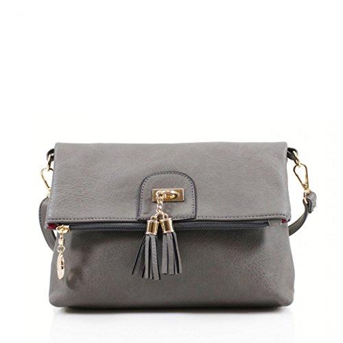Arianna's Fashion, Borsa a tracolla donna Grey