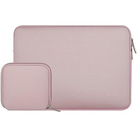 MOSISO Portátil manga, neopreno resistente al agua 15 a 15,6 pulgadas portátil / ordenador portátil / MacBook Pro / MacBook cubierta del bolso de la caja de aire con Caja estándar para el cargador MacBook o Magic Mouse, rosa de bebé
