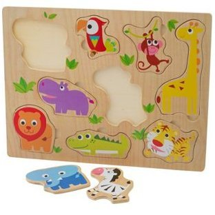 Chad Valley PlaySmart 3 Pack Wooden Puzzles.