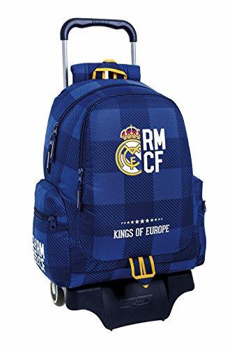 "Real Madrid FC Mochila grande con ruedas ""Blue"""
