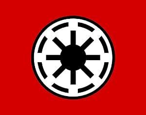 magFlags Drapeau Large Galactic Republic | Galactic Republic Star Wars | drapeau paysage | 1.35qm