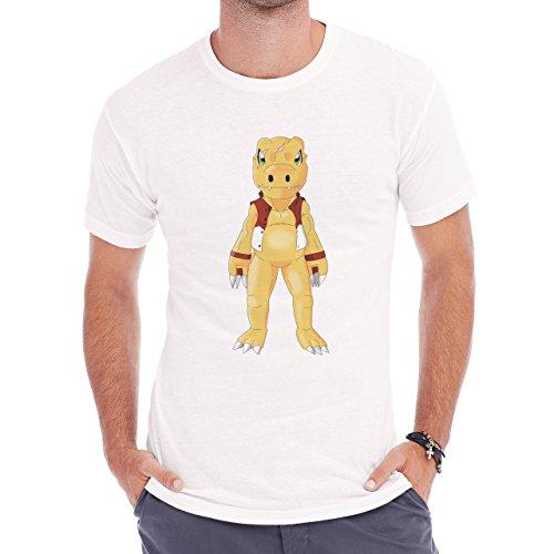 Digimon Agumon Greymon Wargreymon Wargreymon Tall Herren T-Shirt Weiß