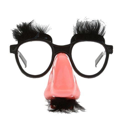 mit Nase Brauen Schnurrbart Spaßbrille für Halloween Karnval Fasching Kostümparty (Brille Mit Nase Und Schnurrbart)