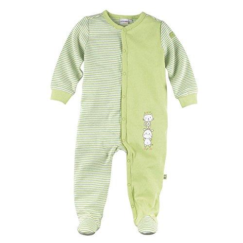 BORNINO Schlafoverall Baby-Nachtwäsche Baby-Schlafanzug, Größe 74/80, grün