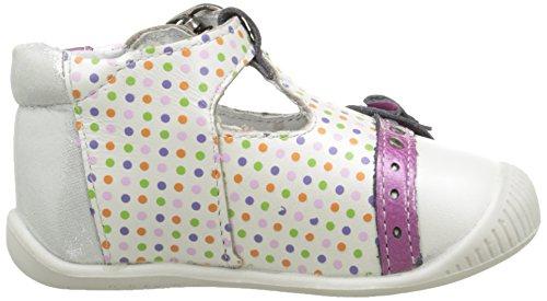 Babybotte Potiron, Chaussures Bébé marche bébé fille Blanc (005 Blanc Pois Multi)