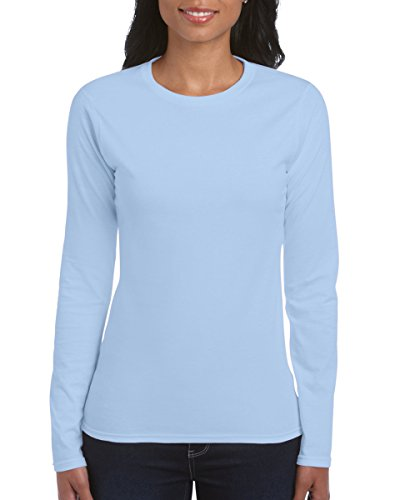 Gildan Damen Langarm T-Shirt / Sweatshirt (S) (Hellblau) S,Hellblau
