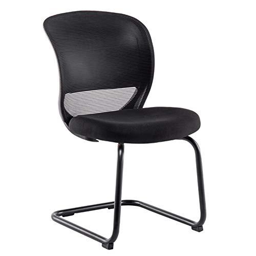 CAIJUN Chaises Polyvalent Plastique PP Pieds D'acier Éponge Épaisse Respirant Antidérapant Noir, 2 Styles (Couleur : NOIR, taille : A)