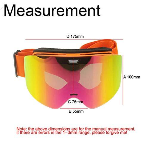 Coniea Snowboardbrille Brillenträger PC Snowboardbrille Herren Sport Sonnenbrillen Orange