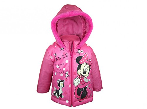 Mädchen Baby- / Kinder- WINTER-JACKE Minnie Mouse, Anorak WARM GEFÜTTERT mit Kapuze, Größe 74, 80, 86, 92, 98, 104, 110, 116, Jacke eines SCHNEE-ANZUG wasser-abweisend, wind-dicht Size 92