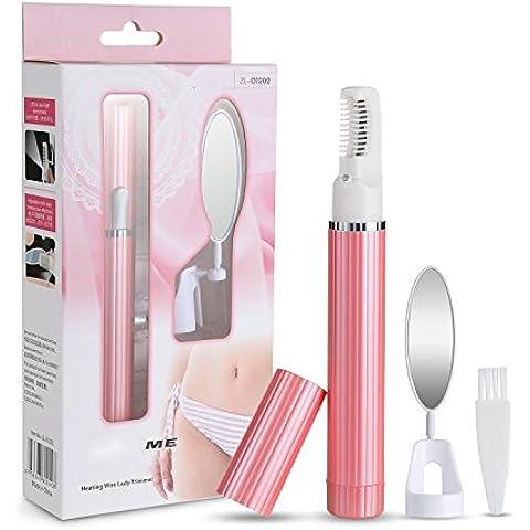 Wawoo Maquinilla de Afeitar para Mujer -Profesional de Afeitar para el Pelo de Cara/Pierna/Brazo/Bikini Recargable (rosa verde)