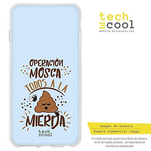 (Funnytech Xiaomi Redmi Note 5 Hülle SchutzHülle Soft TPU Silikon Transparent für Xiaomi Redmi Note 5 l Case, Cover, Handy, High Definition Druck [Frase divertida operación mosca Azul])