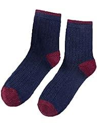 Fjiujin,3 pares de hombres de algodón de algodón ricos calcetines de toalla espesar cálidos