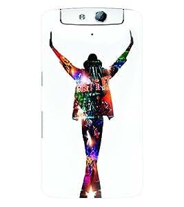 Fuson 3D Printed Michael Jackson Designer Back Case Cover for Oppo N1 - D628