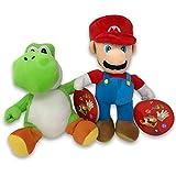 ifancy Super Mario & Yoshi Plüsch-Figuren Stofftier von Nintendo im Doppelpack zum Spielen