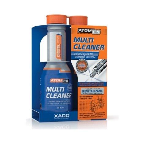 XADO ATOMEX Multi Cleaner Kraftstoff-Systemreiniger Injektor-Reiniger Einspritzdüsen-Reiniger - Additiv- 250ml (Diesel)