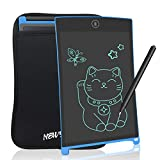 NEWYES 8,5 Pulgadas Tableta Gráfica, Tablets de Escritura LCD, Portátil Tableta de Dibujo Adecuada para el hogar, Escuela, Oficina, Cuaderno de Notas, con Funda, 1 Año de Garantía (Azul)