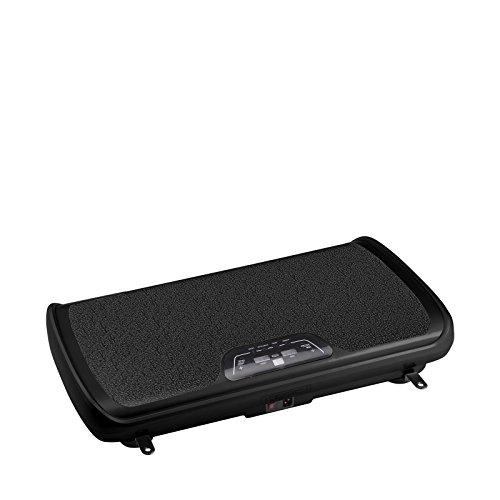 VibroSlim Tone Vibrationsmaschine Plattform Power Fitnessmaschine - 3 Jahre Garantie; DVD, Poster und Armriemen inklusive (Schwarz)