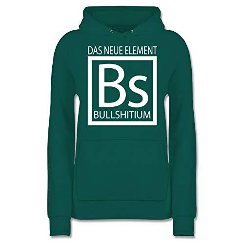 s Element Bullshitium - S - Türkis - JH001F - Damen Hoodie ()