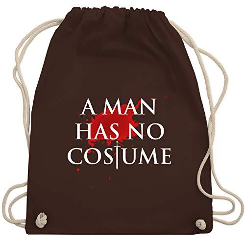 Karneval & Fasching - A Man Has No Costume Kostüm - Unisize - Braun - WM110 - Turnbeutel & Gym Bag (Erwachsenen-gruppe Ideen Halloween-kostüm)