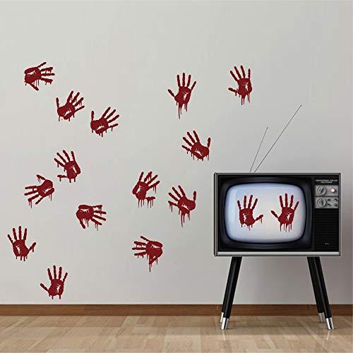 zimmer prinzessin wandaufkleber flur Bloody Hand Prints Creepy For Living Room Or Bedroom ()
