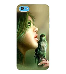 ColourCraft Printed Design Back Case Cover for APPLE IPHONE 5C
