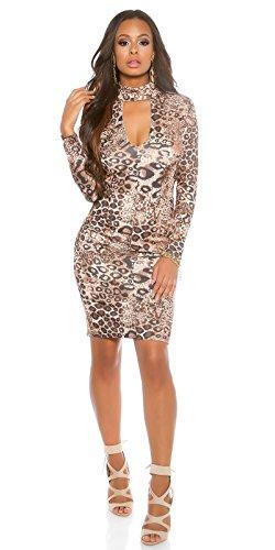In-Stylefashion - Robe - Crayon - Femme Effet léopard L Effet léopard