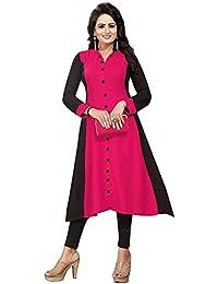Muta Fashions Crepe Pink Women Kurti (KURTI347_Pink)