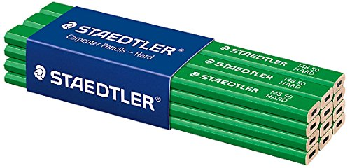 Staedtler – 12 lápices para carpinteros, color verde