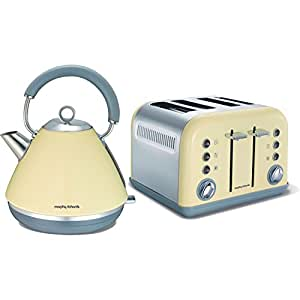 Morphy richards accents cream traditional 1 5l kettle and for Kitchen set kettle toaster