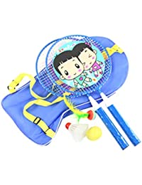 Toyvian Raquetas de Raquetas de Tenis para niños niños Jugando Raquetas ovaladas de bádminton Accesorios de Juego para Deportes al Aire Libre de Primaria 6 Piezas