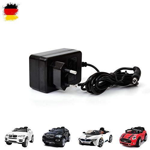 Himoto HSP Original 12V Ladegerät für Elektroautos für Kinder, kompatibel unter anderem für BMW, Mini Cooper, Netzteil für Elektrofahrzeuge mit Lade-LED Anzeige, Ersatzteil zum Aufladen des Akkus