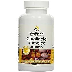 Warnke Gesundheitsprodukte Carotinoid Komplex mit Lutein, Zeaxanthin, Beta-Carotin und Lycopin, 100 Kapseln, 1er Pack (1 x 62g)