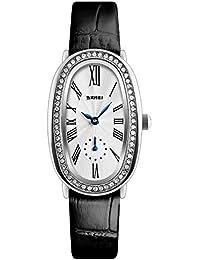 Reloj de Pulsera para Mujer, Estilo Vintage, con números Romanos, de Piel,