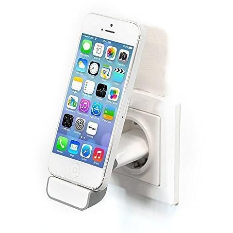 Original iProtect® 2in1 Set USB Ladestecker Halterung Steckdosen Dockingstation u Netzteil weiß für 5 5s 5c SE, iPhone 6 6 Plus 6s 6s Plus, iPhone 7 7 Plus, iPhone 8 8 Plus, iPhone X
