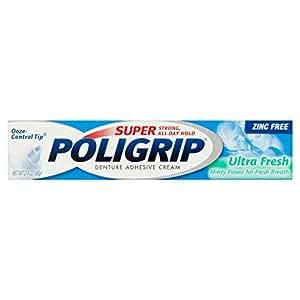 Super Poligrip Ultra Fresh Denture Adhesive Cream, 2.4 oz