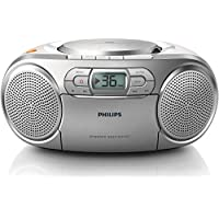 Philips AZ127/12 - Unidad de CD (stereo, Dynamic Bass Boost, 2 W, FM, Portable CD player), Plateado