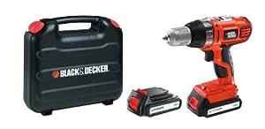 Black + Decker ASL186KB Perceuse sans fil autoselect 18 volts Lithium