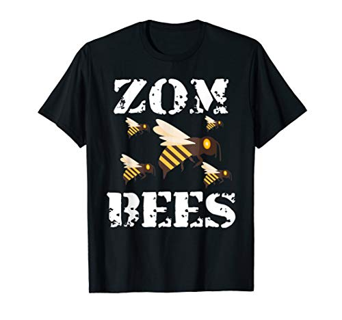 Zombees lustiges, gruseliges Zombie-Halloween-Kostüm T-Shirt